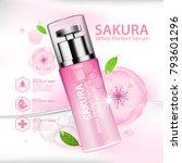 sakura nature essence water ... | Shutterstock .eps vector #793601296