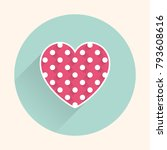 flat heart icon  valentines day ... | Shutterstock .eps vector #793608616