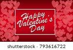 illustration of valentines day...   Shutterstock . vector #793616722