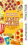 fast food or finger food... | Shutterstock .eps vector #793617028
