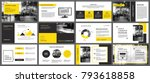 yellow and white element for... | Shutterstock .eps vector #793618858
