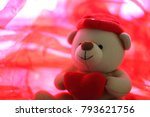 valentine's day   bear holding... | Shutterstock . vector #793621756