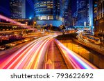 double exposure with traffic... | Shutterstock . vector #793622692