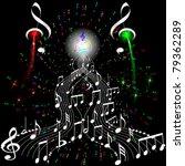 firework musical notes | Shutterstock .eps vector #79362289