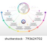 infographics with eight options.... | Shutterstock .eps vector #793624702
