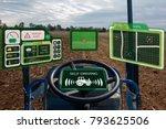 iot smart industry robot 4.0... | Shutterstock . vector #793625506