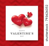 happy valentines day greeting... | Shutterstock .eps vector #793626352