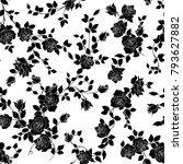 rose illustration pattern. i... | Shutterstock .eps vector #793627882