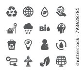 eco icon set | Shutterstock .eps vector #793628785