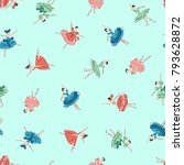 pattern of the ballerina  i... | Shutterstock .eps vector #793628872