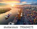 logistics and transportation of ... | Shutterstock . vector #793634275