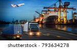 logistics and transportation of ... | Shutterstock . vector #793634278