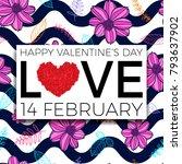 happy valentine's day... | Shutterstock .eps vector #793637902