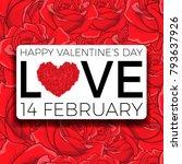 happy valentine's day... | Shutterstock .eps vector #793637926