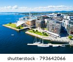 oslo harbor or harbour at the... | Shutterstock . vector #793642066
