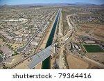 Construction of Bridge over the Central Arizona Project, CAP - stock photo