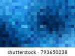 Dark Blue Vector Blurry...
