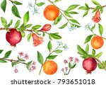 template with tree branches...   Shutterstock . vector #793651018