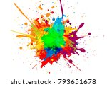 abstract vector paint color... | Shutterstock .eps vector #793651678