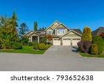 big custom made luxury house... | Shutterstock . vector #793652638