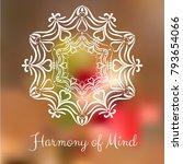 hand drawn mandala design... | Shutterstock .eps vector #793654066