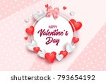 happy holidays  valentines day... | Shutterstock .eps vector #793654192