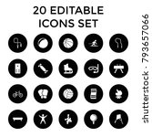 activity icons. set of 20... | Shutterstock .eps vector #793657066