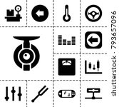 control icons. set of 13... | Shutterstock .eps vector #793657096