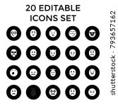 emoticon icons. set of 20... | Shutterstock .eps vector #793657162