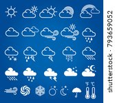 set of weather icons. modern... | Shutterstock .eps vector #793659052