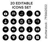 medicine icons. set of 20... | Shutterstock .eps vector #793662022