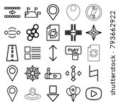 navigation icons. set of 25... | Shutterstock .eps vector #793662922