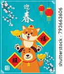 vintage chinese new year poster ... | Shutterstock .eps vector #793663606