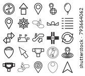 navigation icons. set of 25... | Shutterstock .eps vector #793664062