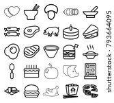 meal icons. set of 25 editable... | Shutterstock .eps vector #793664095