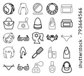 glamour icons. set of 25... | Shutterstock .eps vector #793664566