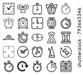 timer icons. set of 25 editable ... | Shutterstock .eps vector #793665346