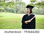 graduation concept. graduated... | Shutterstock . vector #793666282