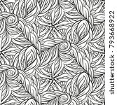 ethnic black and white seamless ... | Shutterstock .eps vector #793668922