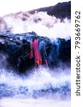 lava flow from kilaueau at... | Shutterstock . vector #793669762
