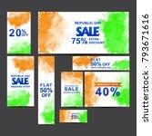 republic day sale   social... | Shutterstock .eps vector #793671616