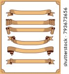 retro ribbon vector graphic... | Shutterstock .eps vector #793673656