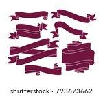 retro ribbon vector graphic... | Shutterstock .eps vector #793673662