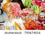 assorted sweets and candies...   Shutterstock . vector #793674016