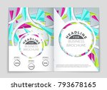 abstract vector layout... | Shutterstock .eps vector #793678165