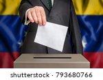 election in venezuela   voting... | Shutterstock . vector #793680766
