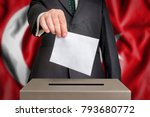 election in turkey   voting at... | Shutterstock . vector #793680772