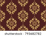 seamless luxury wallpaper... | Shutterstock .eps vector #793682782