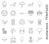 ecological care icons set.... | Shutterstock .eps vector #793691632