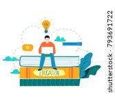 education  online training... | Shutterstock .eps vector #793691722